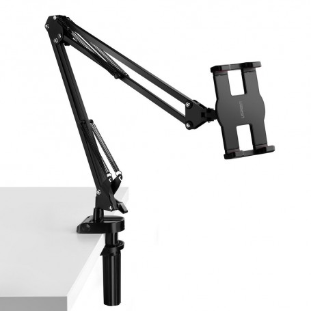 Ugreen universal phone tablet holder with folding long arm black and gray (50394)