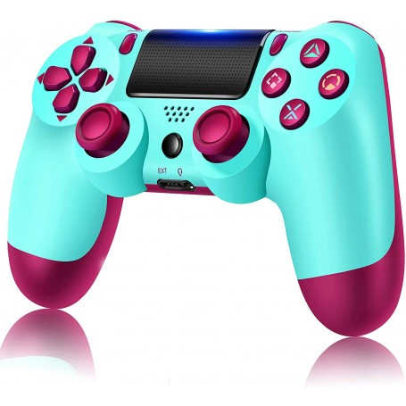 PS4 Controller Wireless, Game Controller Joystick Remote Intended for PlayStation 4 with Dual Vibration, Berry Blue