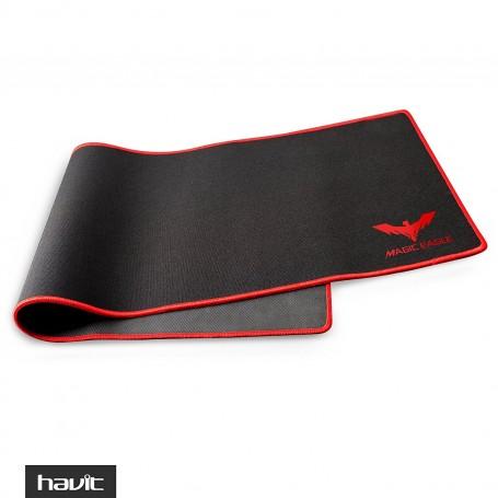 HAVIT Large Mouse Pad, XL, Stitched Edges, Non-Slip Rubber, HV-MP830, Gaming (Magic Eagle), Black + Red