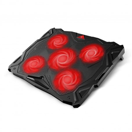 HAVIT HV-F2068 Laptop Cooler, 5 Fans, External, 14 inch - 17 inch, Red LED