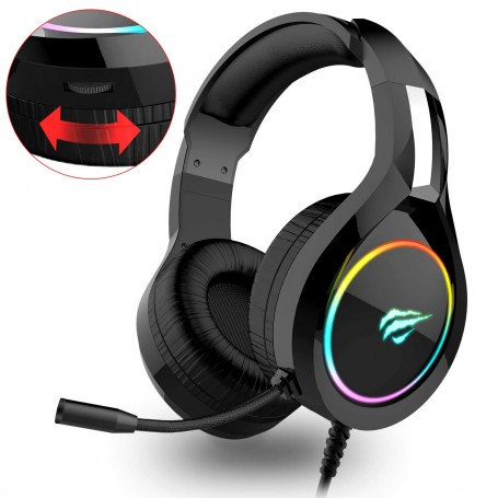 HAVIT H2232D RGB Gaming Headset for PC / PS 4 / XBOX / Phone / Tablet