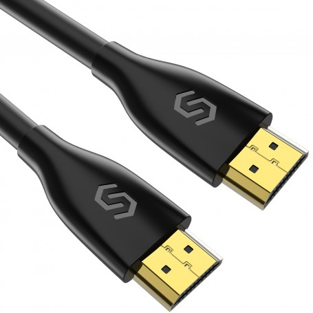 Syncwire HDMI Cable 2M HDMI Lead - Ultra High Speed 18Gbps HDMI 2.0 Cable 4K @60Hz Support Fire TV, Apple TV, Ethernet, Audio Return, Video UHD 2160p, HD 1080p, 3D, Xbox PlayStation PS3 PS4 PC -Black