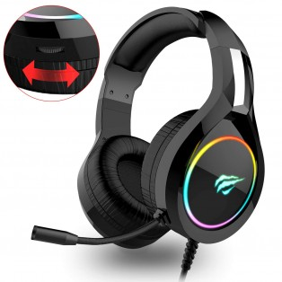 HAVIT H2232D RGB Gaming Headset for PC/PS 4/XBOX/Phone / Tablet