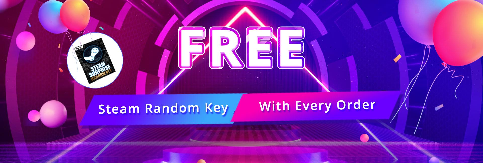 Free Steam Random Key with Every Order